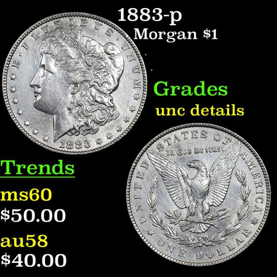 1883-p Morgan Dollar $1 Grades Unc Details