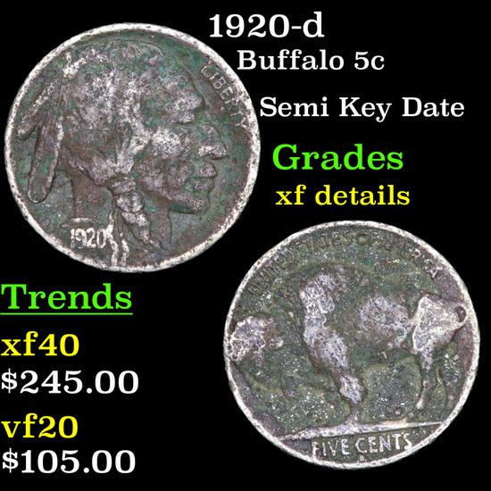 1920-d Buffalo Nickel 5c Grades xf details