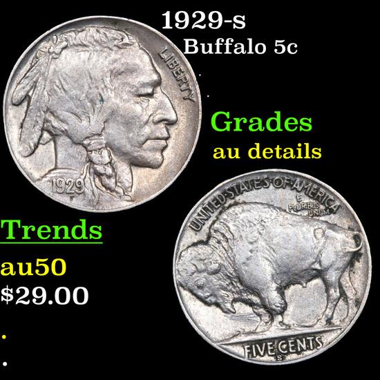 1929-s Buffalo Nickel 5c Grades AU Details