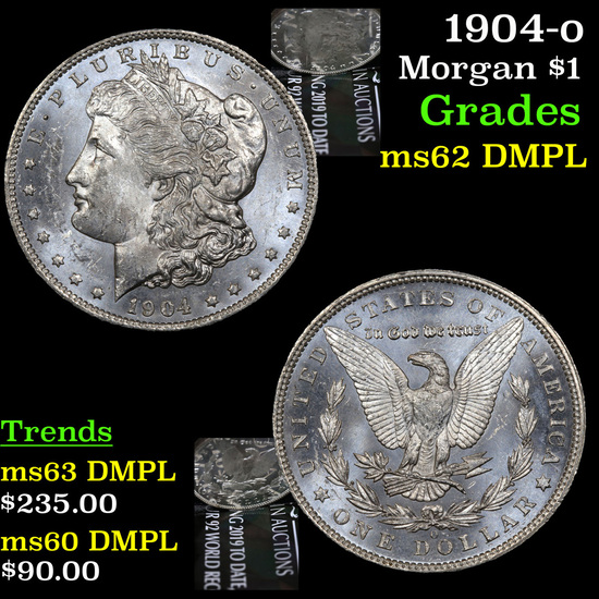 1904-o Morgan Dollar $1 Grades Select Unc DMPL