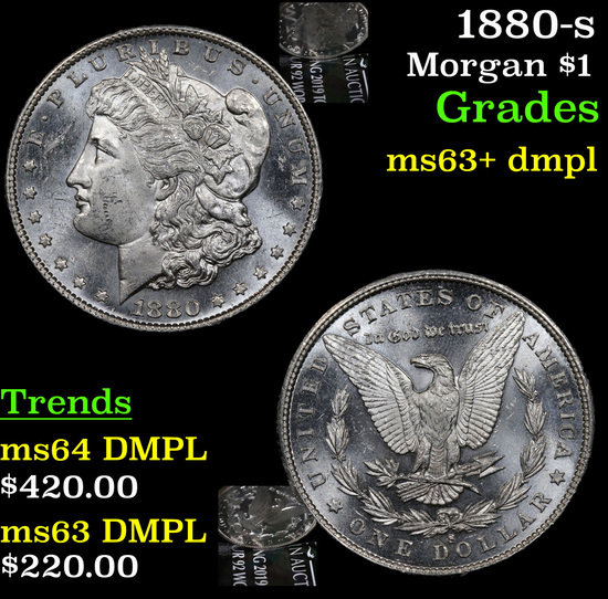 1880-s Morgan Dollar $1 Grades Select Unc+ DMPL