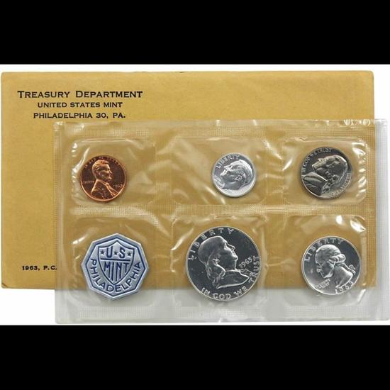 1963 Philadelphia United States Mint set in Original Government Packaging.