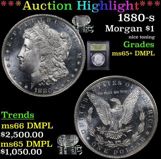 ***Auction Highlight*** 1880-s Morgan Dollar $1 Graded GEM+ DMPL By USCG (fc)