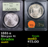 PCGS 1881-s Morgan Dollar $1 Graded ms63 By PCGS