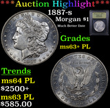 ***Auction Highlight*** 1887-s Morgan Dollar $1 Graded Select Unc+ PL By USCG (fc)