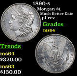1890-s Morgan Dollar $1 Grades Choice Unc