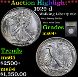 ***Auction Highlight*** 1929-d Walking Liberty Half Dollar 50c Graded Choice+ Unc By USCG (fc)