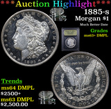 ***Auction Highlight*** 1885-s Morgan Dollar $1 Graded Select Unc+ DMPL By USCG (fc)