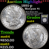 ***Auction Highlight*** 1891-p Morgan Dollar $1 Graded Choice Unc By USCG (fc)