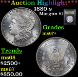 ***Auction Highlight*** 1880-s Morgan Dollar $1 Graded Gem++ Unc By USCG (fc)