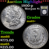 ***Auction Highlight*** 1900-p Morgan Dollar $1 Graded GEM+ Unc By USCG (fc)