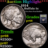 ***Auction Highlight*** 1914 Buffalo Nickel 5c Graded GEM++ Proof By USCG (fc)