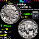 ***Auction Highlight*** 1914-p Buffalo Nickel 5c Graded GEM+ Unc By USCG (fc)