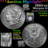 ***Auction Highlight*** 1892-cc Morgan Dollar $1 Graded Select Unc PL By USCG (fc)