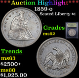 ***Auction Highlight*** 1859-o Seated Liberty Dollar $1 Graded Select Unc By USCG (fc)
