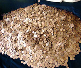 ***Auction Highlight*** UNSEARCHED 5000 pc Bag of Lincoln Wheat Cents Average Circulated  (fc)