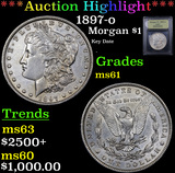 ***Auction Highlight*** 1897-o Morgan Dollar $1 Graded BU+ By USCG (fc)