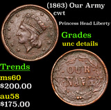 (1863) Our Army Civil War Token 1c Grades Unc Details