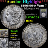 ***Auction Highlight*** 1896/96-o Vam 7 Morgan Dollar $1 Graded Select Unc By USCG (fc)