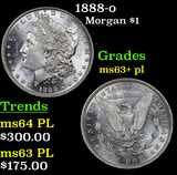1888-o Morgan Dollar $1 Grades Select Unc+ PL