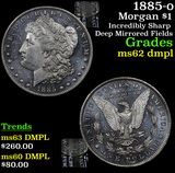 1885-o Morgan Dollar $1 Grades Select Unc DMPL