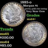 1885-o Morgan Dollar $1 Grades Choice+ Unc