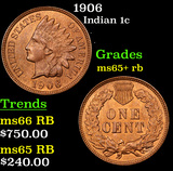 1906 Indian Cent 1c Grades Gem+ Unc RB
