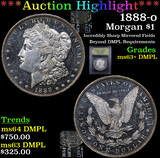 ***Auction Highlight*** 1888-o Morgan Dollar $1 Graded Select Unc+ DMPL By USCG (fc)