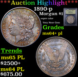 ***Auction Highlight*** 1890-p Morgan Dollar $1 Graded Choice Unc+ PL By USCG (fc)