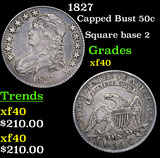 1827 Capped Bust Half Dollar 50c Grades xf