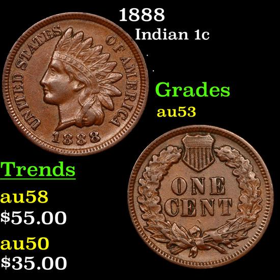 1888 Indian Cent 1c Grades Select AU