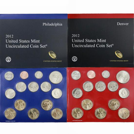 2012 United States Mint Uncirculated Coint Set 28 coins