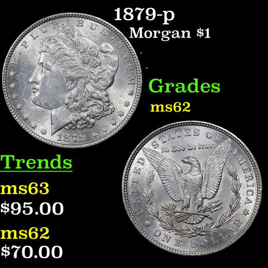 1879-p Morgan Dollar $1 Grades Select Unc