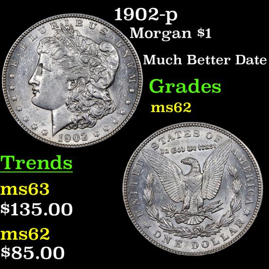 1902-p Morgan Dollar $1 Grades Select Unc
