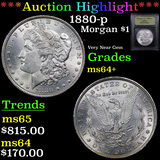 ***Auction Highlight*** 1880-p Morgan Dollar $1 Graded Choice+ Unc By USCG (fc)