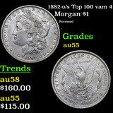 1882-o/s Top 100 vam 4 Morgan Dollar $1 Grades Choice AU