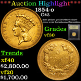 ***Auction Highlight*** 1854-o Three Dollar Gold .$3 Graded vf++ By USCG (fc)