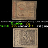 Continental Currency $45 banknote, January 14, 1779, FR# CC96 Grades f+