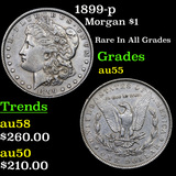 1899-p Morgan Dollar $1 Grades Choice AU