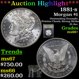 ***Auction Highlight*** 1881-s Morgan Dollar $1 Graded GEM++ Unc By USCG (fc)