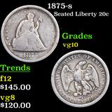 1875-s Twenty Cent Piece 20c Grades vg+