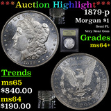 ***Auction Highlight*** 1879-p Morgan Dollar $1 Graded Choice+ Unc By USCG (fc)