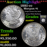 ***Auction Highlight*** 1881-cc Morgan Dollar $1 Graded GEM++ Unc By USCG (fc)