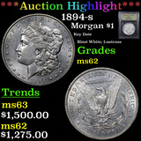***Auction Highlight*** 1894-s Morgan Dollar $1 Graded Select Unc By USCG (fc)