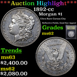 ***Auction Highlight*** 1892-cc Morgan Dollar $1 Graded Select Unc By USCG (fc)