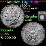 ***Auction Highlight*** 1903-s Morgan Dollar $1 Graded AU, Almost Unc By USCG (fc)