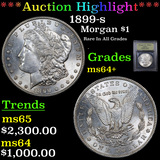 ***Auction Highlight*** 1899-s Morgan Dollar $1 Graded Choice+ Unc By USCG (fc)