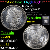 ***Auction Highlight*** 1887-s Morgan Dollar $1 Graded GEM+ Unc By USCG (fc)