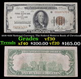 1929 $100 National Currency, The Federal Reserve Bank of Cleveland Grades vf++