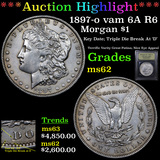 ***Auction Highlight*** 1897-o vam 6A R6 Morgan Dollar $1 Graded Select Unc By USCG (fc)